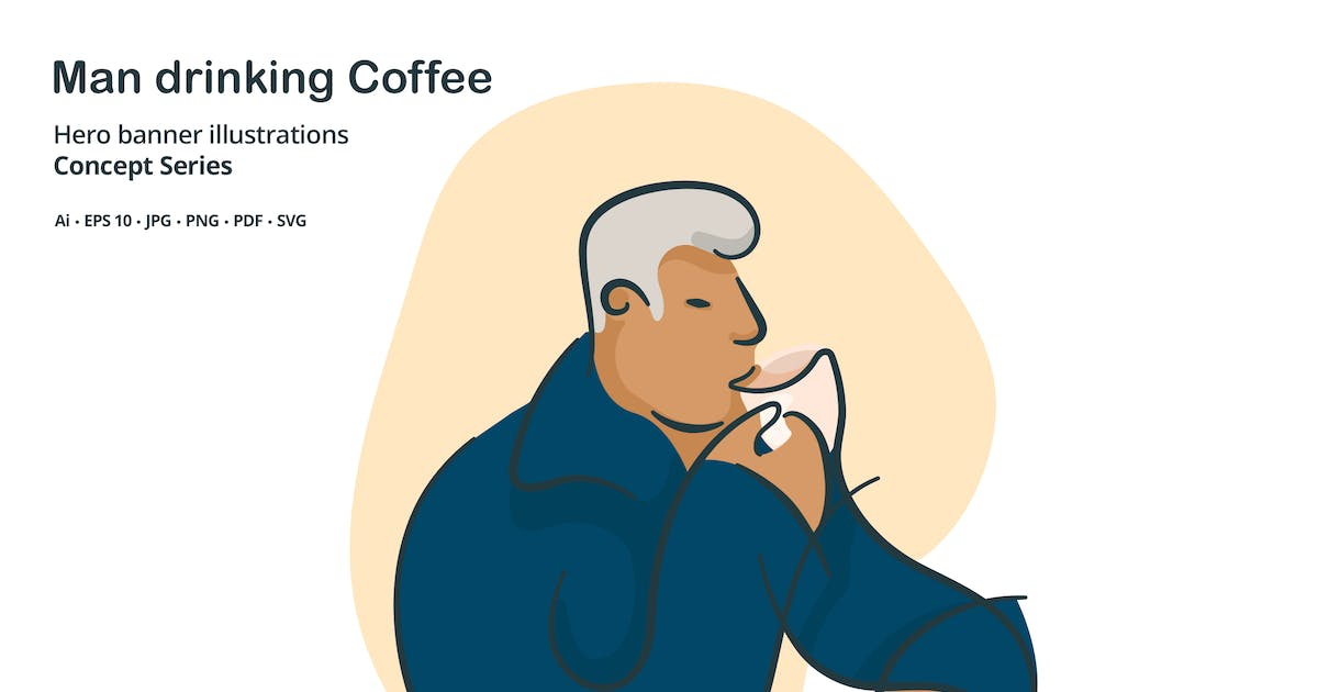 Download Man Drinking Coffee Vector Illustration by roundicons