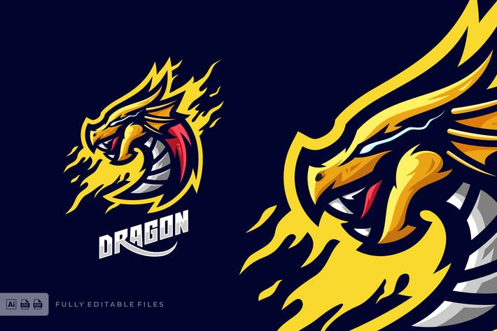Thumbnail for Dragon Sports and Esports Logo template