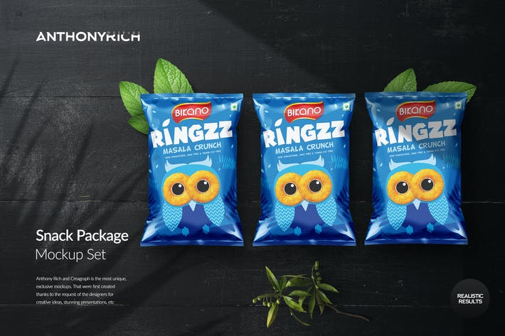Thumbnail for Snack Long packaging mockup