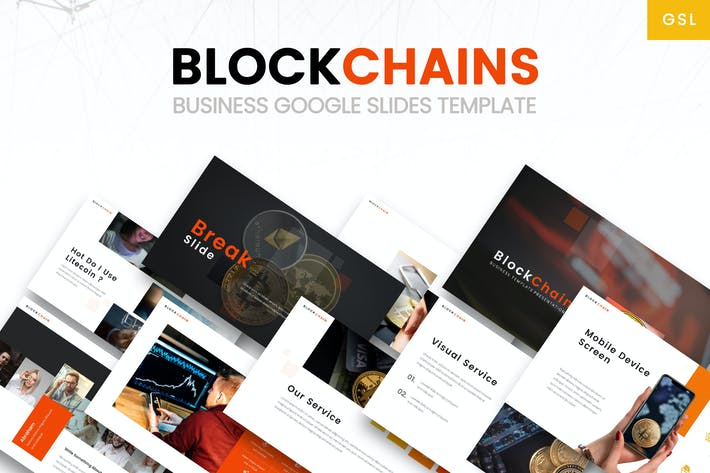 Thumbnail for Blockchains - Business Google Slides Template