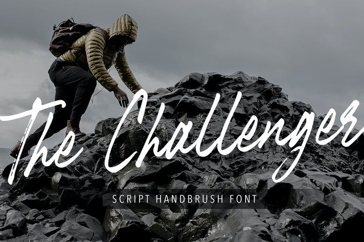 Thumbnail for The Challenger Script Handbrush Font