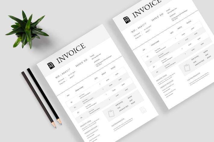 Thumbnail for Minimalist Invoice Template 13