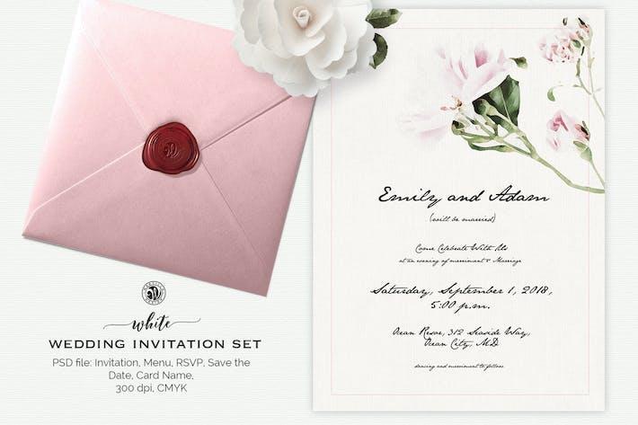 Thumbnail for White Wedding Invitation Set