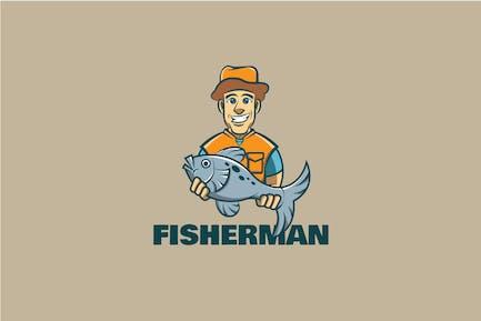 Fisherman Maskottchen Logo
