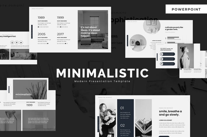 Thumbnail for Minimalistic - Powerpoint Template