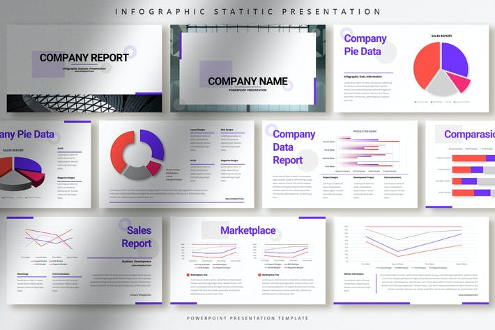 Modern Infographic Statistic Powerpoint Template