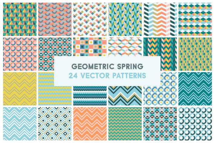 Thumbnail for Patrones Vector geométricos de primavera