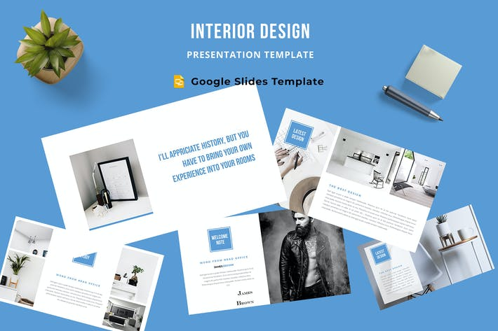 Cover Image For Interior Design Google Slides Template