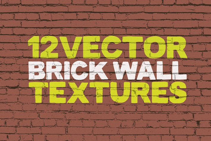 Thumbnail for Vector Brick Wall Textures x12