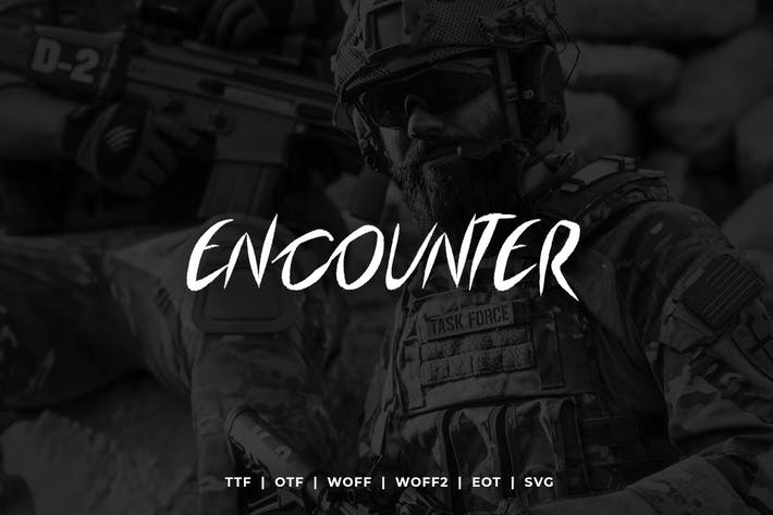 Thumbnail for Encounter - Display Typeface + WebFonts