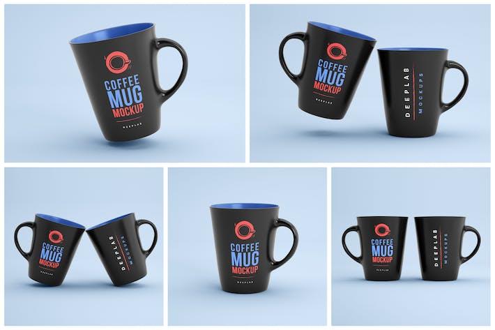 Thumbnail for Dunkle Kaffeetasse Mockup Set