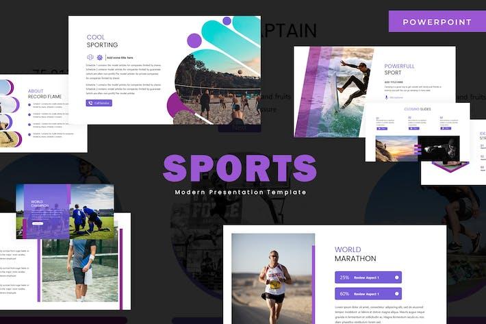Спорт — Шаблон Powerpoint