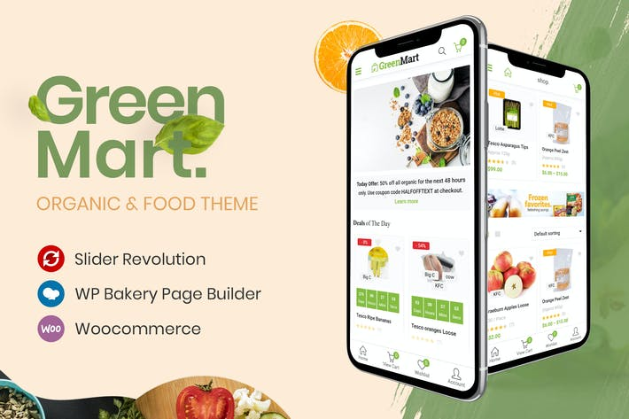 Thumbnail for GreenMart – Organic & Food WooCommerce WordPress T