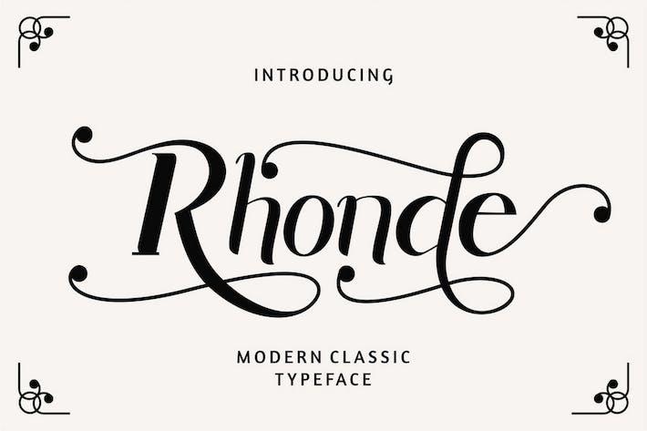 Thumbnail for Rhonde - Modern Classic Font