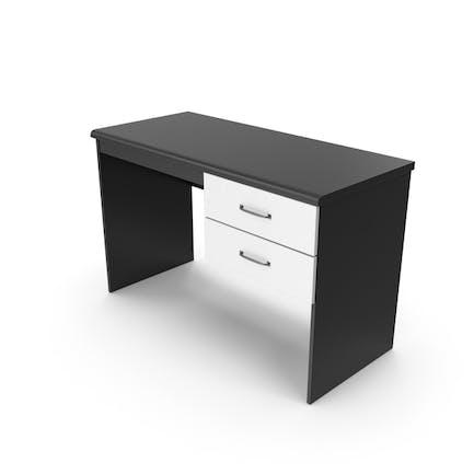 Heimbüro Schreibtisch Schwarz Weiß