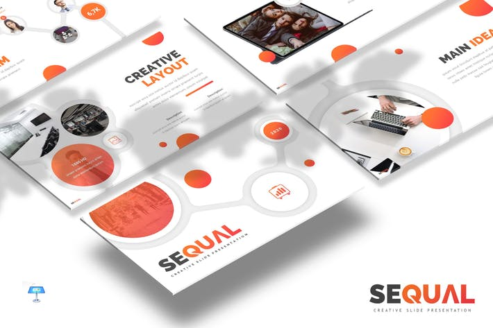 Thumbnail for Sequal - Keynote Template
