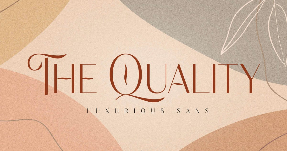 Download The Quality - Luxurious Sans by mokatype