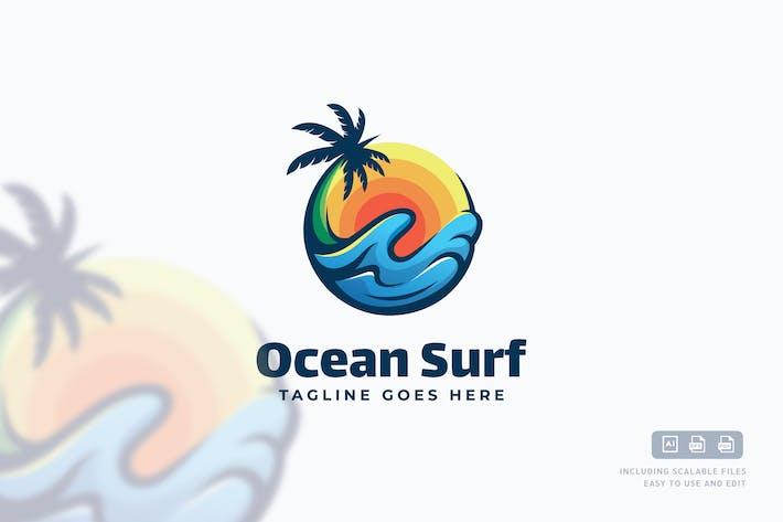Thumbnail for Ocean Surf Logo Template