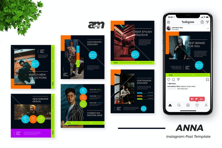 Thumbnail for Anna Clothing Store Instagram Post Template