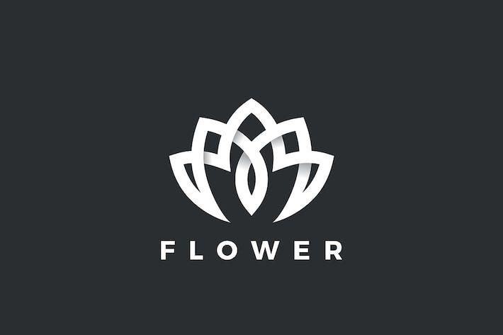 Thumbnail for Lotus Flower Logo Yoga Luxury Fashion Linear style