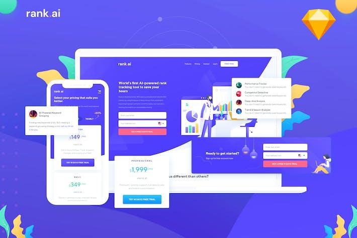 Rank.ai - SEO Service Website Template