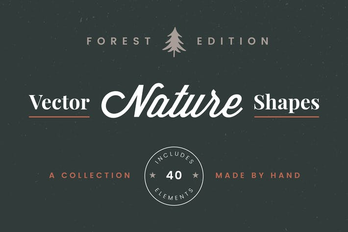 Thumbnail for Vector Nature Shapes: Forest Edition