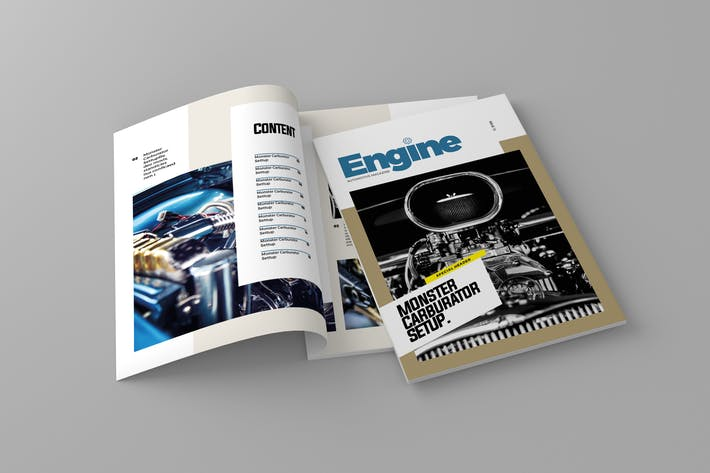 Thumbnail for Engine - Magazine Template