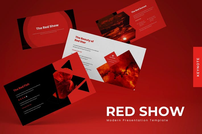 Thumbnail for The Red Show - Keynote Template