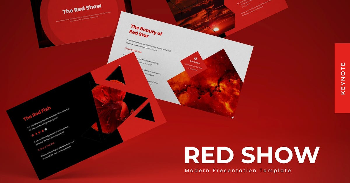 Download The Red Show - Keynote Template by karkunstudio
