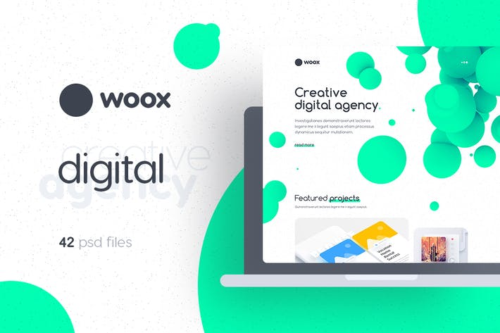 Thumbnail for Woox - Creative Digital Agency PSD Template