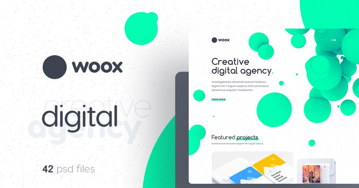 Download Woox - Creative Digital Agency PSD Template by themefire