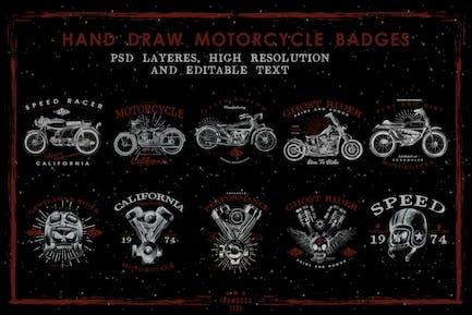 HandDraw Vintage Motorcycle Badges