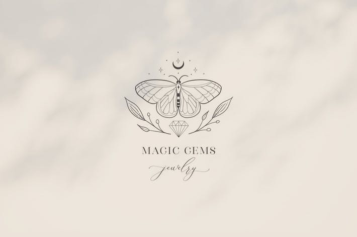 Thumbnail for Premade Magic Gems Brand Logo and Packaging Design