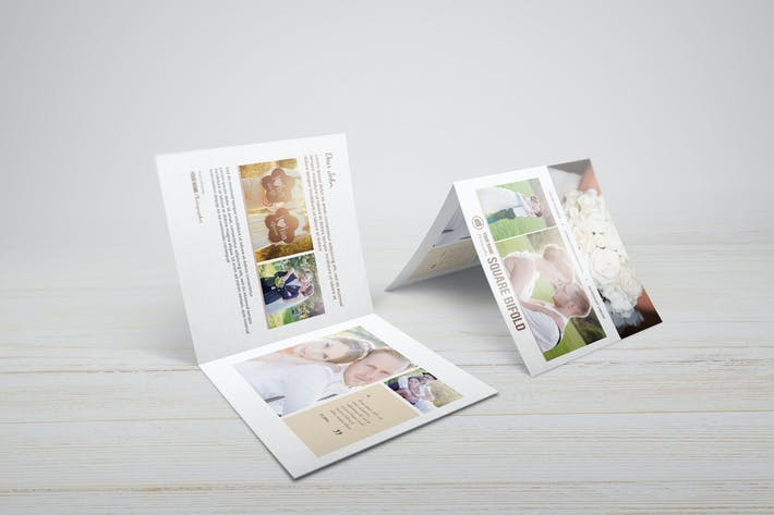 Thumbnail for Square Greeting Card - Invitation Mockups
