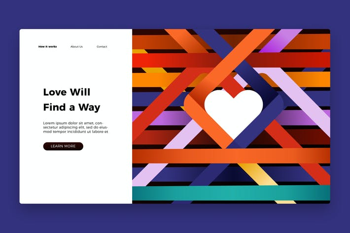 Thumbnail for Love Banner & Landing Page