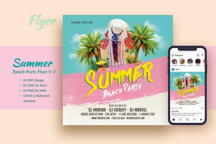 Thumbnail for Summer Beach Party Flyer & Instagram Post V7