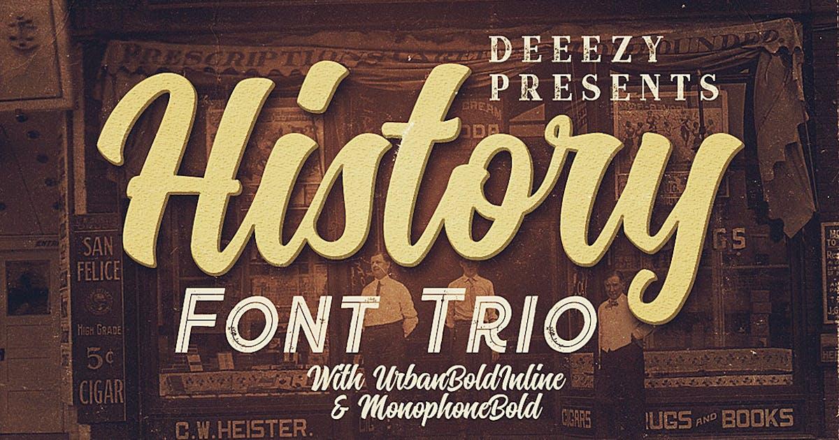 History Font Trio by cruzine
