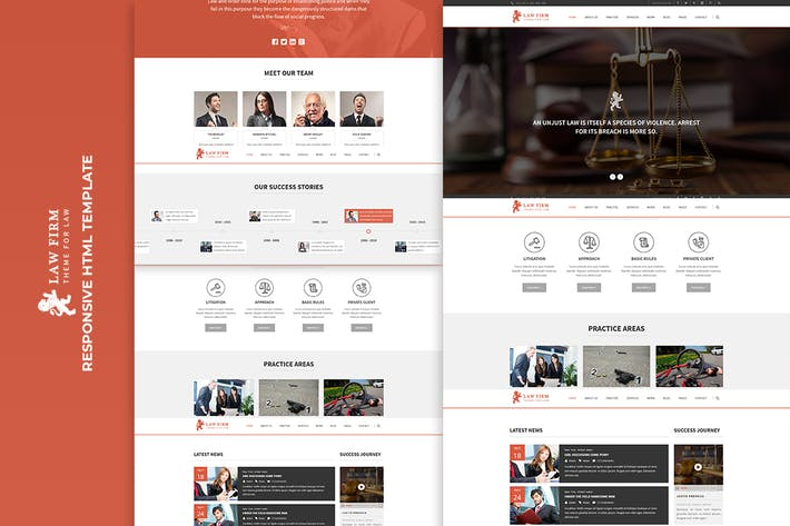 Thumbnail for Law Firm - Responsive HTML Template