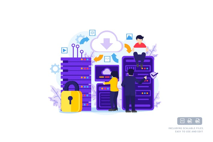 Cloud Computing - Ilustration Template