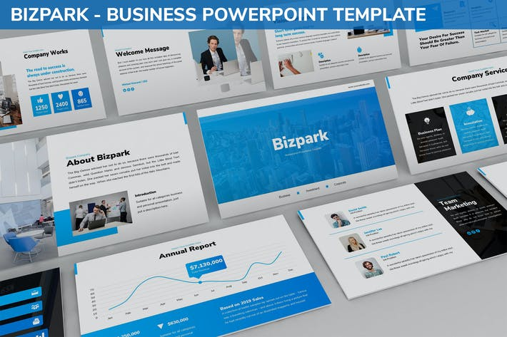 Thumbnail for Bizpark - Business Powerpoint Template