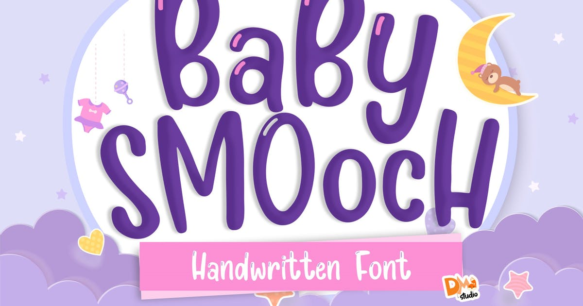 Download Baby Smooch Handwritten Display Font by DmLetter