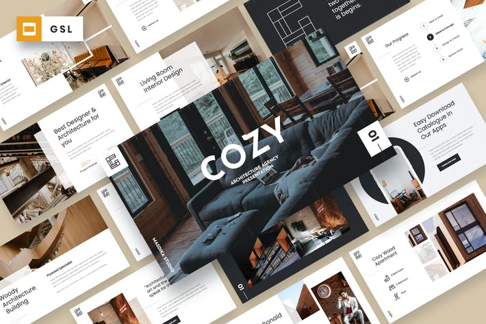 Thumbnail for COZY - Architecture Agency Google Slides Template