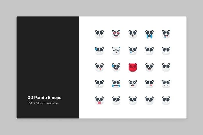 Thumbnail for Cute Panda Emojis