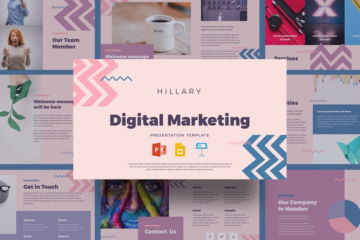 Thumbnail for Hillary - Digital Marketing Presentation Templates