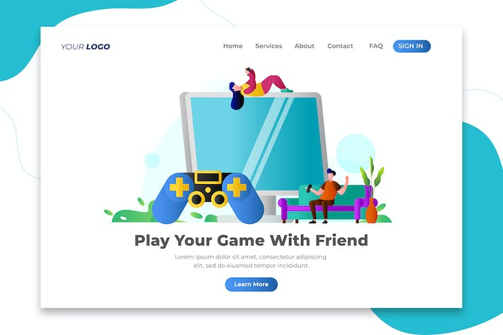 Thumbnail for Play Your Game with Friend - Landing Page