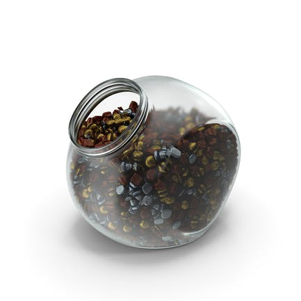 Spherical Jar with Wrapped Fancy Bonbons