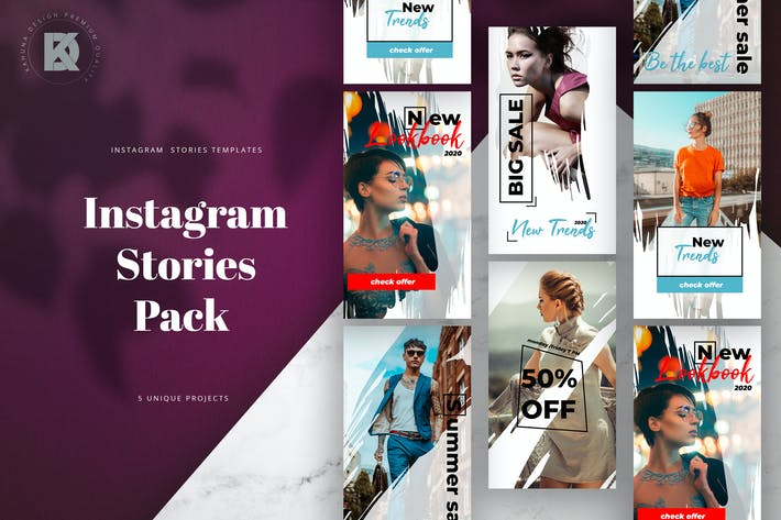 Cover Image For Fashion Feminine Instagram Stories Pack