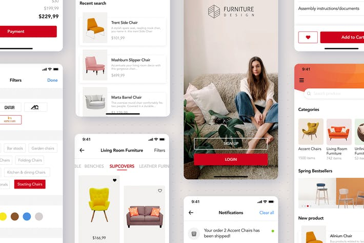 Thumbnail for Furniture Store App Template