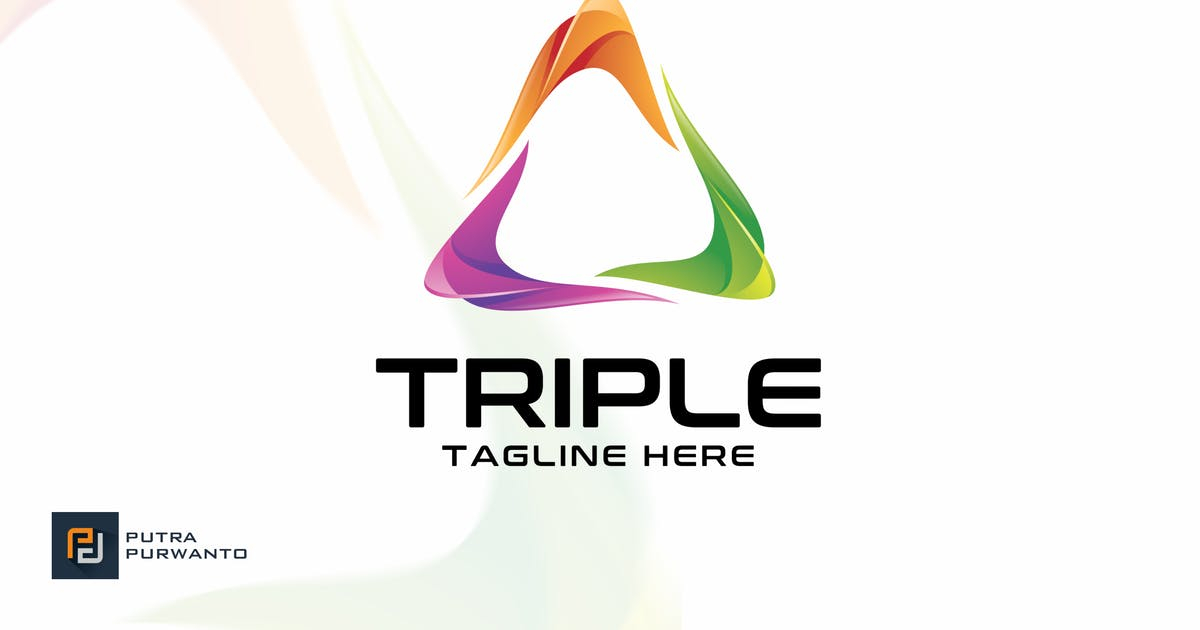 Download Triple - Logo Template by putra_purwanto