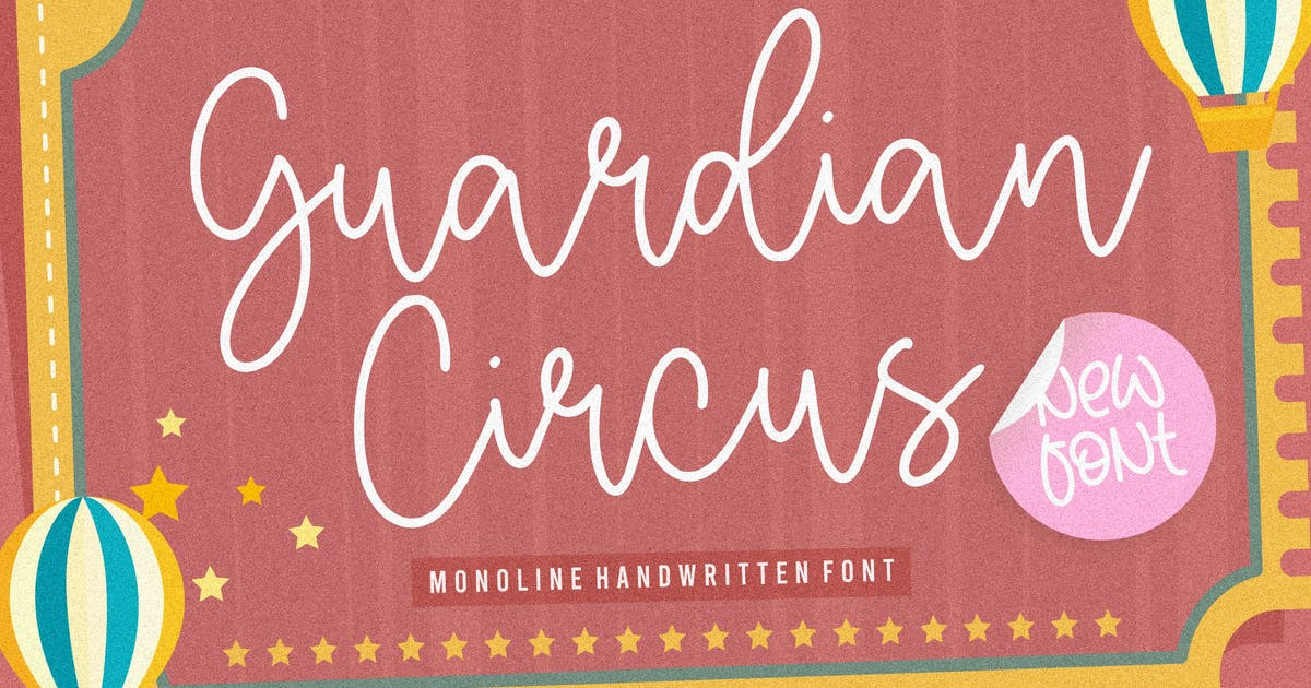 Download Guardian Circus Script Font YH by GranzCreative
